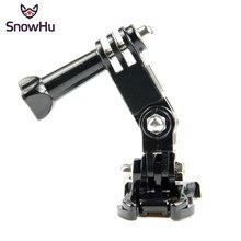 SnowHu vendita calda accessori fotografici Andoer braccio orientabile a tre vie regolabile per Gopro Hero 9 8 7 6 5 4 per fotocamera SJ4000 GP15