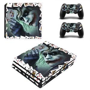 Image 4 - Joker Man pegatina para piel de diseño para Sony Playstation 4 Pro consola y 2 uds controlador de piel Calcomanía para PS4 Pro accesorios de juego