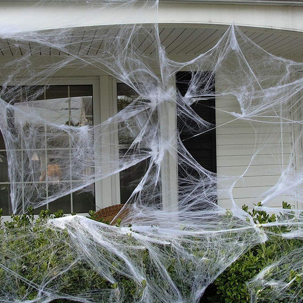 US $2 93 OFF LanLan 100g Halloween Spider Web Props for Bar KTV Haunted House Decoration Party DIY Decorations AliExpress