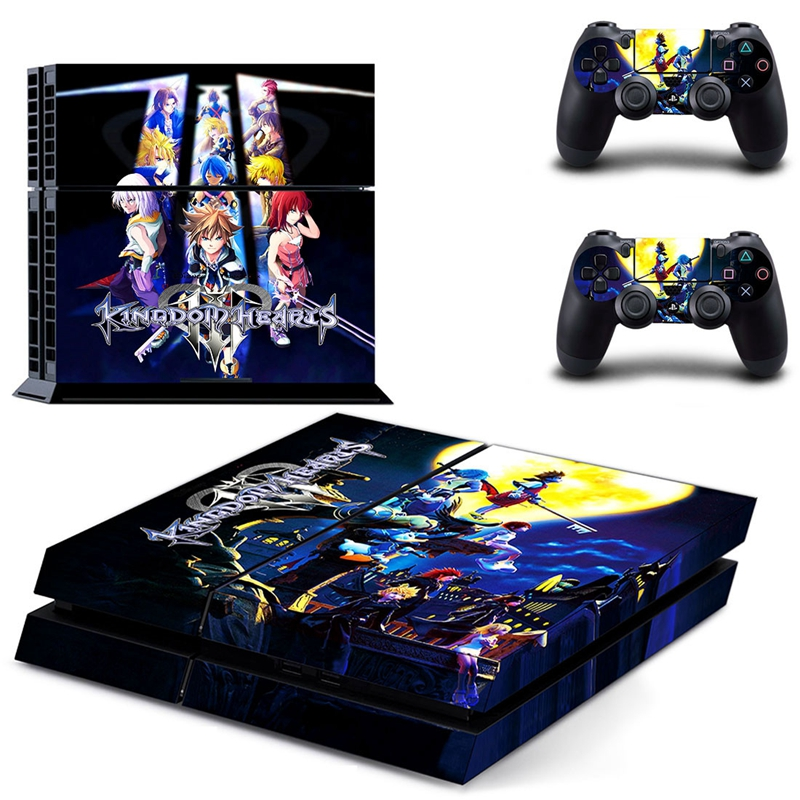 Image 2 - HOMEREALLY Stickers PS4 Skin KING DOM HEARTS Sticker for Sony Playstation 4 Controller and Console Skin PS4 Accessory-in Stickers from Consumer Electronics