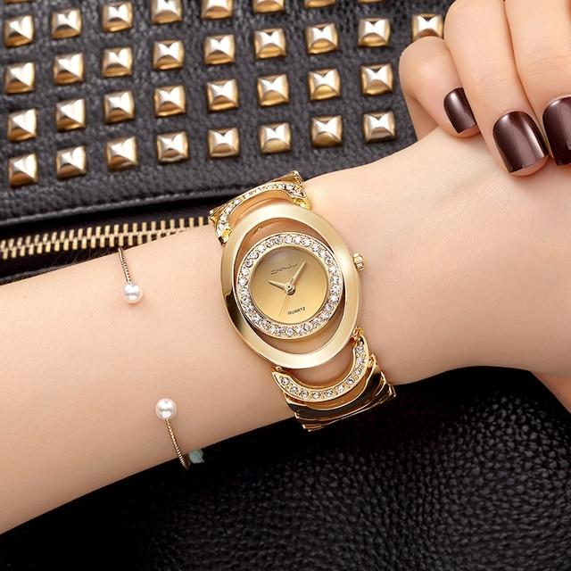 d16536fcd9d30 CRRJU Luxury Women Watch Famous Brand Gold Fashion Design Bracelet Ladies  Watches Women Wristwatches reloj mujer 2017 girl gift