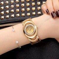 Crrju luksusowe kobiety watch znane marki złoty fashion design bransoletka panie zegarki damskie zegarki na rękę reloj mujer 2017 dziewczyna prezent