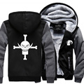 2016 new winter men coat Anime One piece Monkey D Luffy men sweatshirts casual suprem hoodie men personalized Skull tracksuit