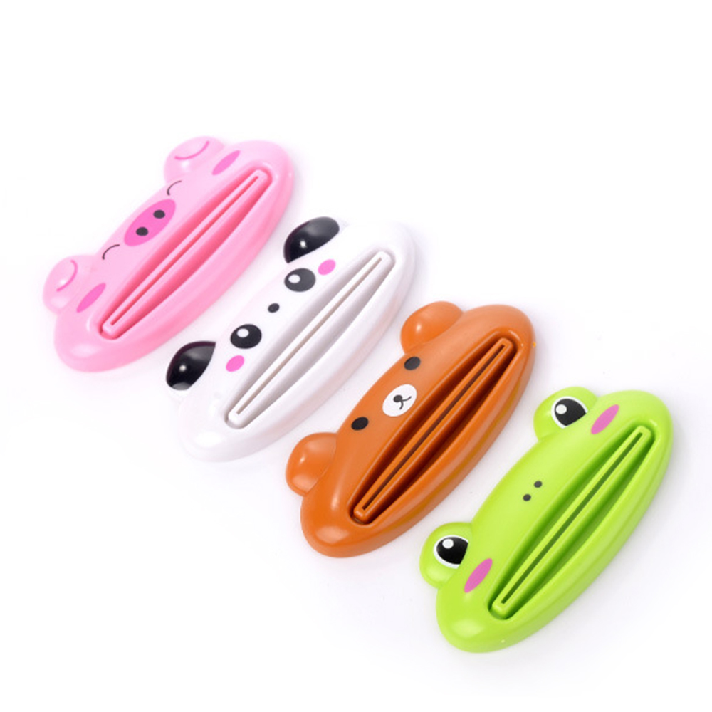 New Cartoon Animals Shaped Toothpaste Squeezer Dispenser Manual Easy Extruding Toothpaste Clip Cream Tube Squeezer