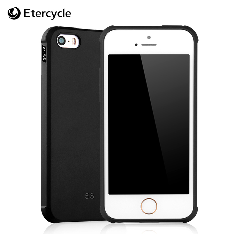 Luxury Case for iPhone 5 5s 5SE Simple Frosted Shield Compact Anti-knock Protective Cover Cases Soft Silicone TPU Shell