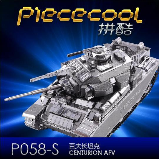 3D Jigsaw Classic DIY Metallic Nano Puzzle Centurion Tank Model Kids Educational Puzzles Tank Model Toys