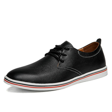 Men Genuine Leather Shoes Fashion Casual Men's Real Leather Man Flats Shoes Cheap Leather Mens Loafers Sneakers