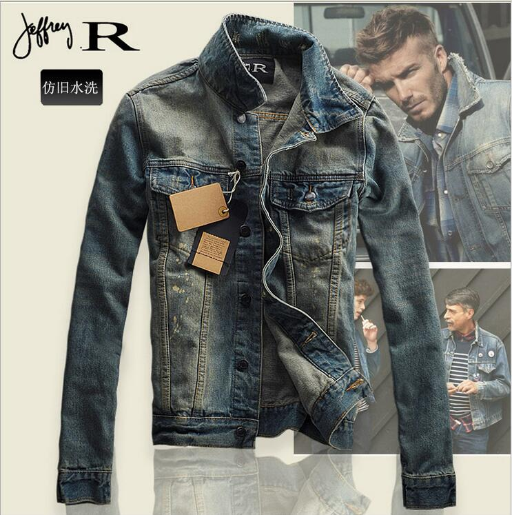 Smeiarar 2018 Spring Fashion Mens Cotton Denim Jackets Man Slim Single Breasted Jean Hip Hop Jacket Coat Casual Bomber Jacket