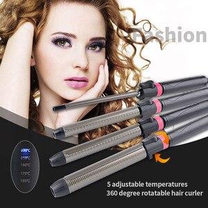 Image 3 - 9 32mm מקצועי מסלסל שיער עמוק גל קרלי Styler תלתלים סלון LED טיטניום שיער קרלינג ברזל מקל סטיילינג אבזר S36