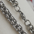7mm cool woven link men/boy stainless steel chain necklaces & pendants men jewelry