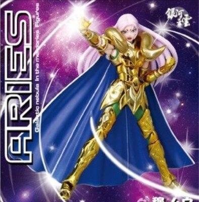 In-Stock Galactic Aries Mu Ex Myth Cloth PVC Gold Action Figure Model Kit Cavaleiros with kiki head saint seiya new in stock vi j62 ex