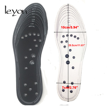 Leyou Unisex Magnetic Therapy Insoles Massage Insole Size Adjustable Foot Care for Shoes Pads Plus