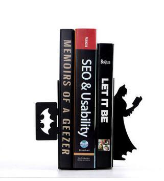 Un livre créatif livre Simple Batman plaque bureau bureau télescopique serre-livres simple personnalité TV décorations pour la maison