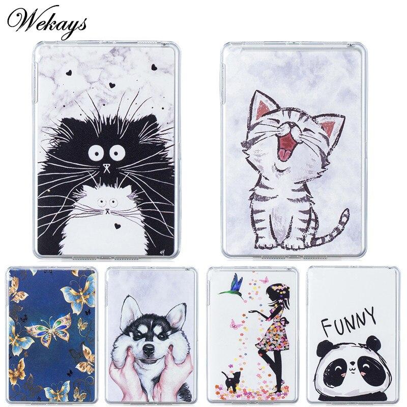 Wekays For Samsung Tab E 9.6 T560 Cartoon Soft Silicone Fundas Case For Samsung Galaxy Tab E 9.6