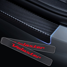 цена на 4D Carbon Fiber Vinyl Sticker For Hyundai Veloster Car Door Sill Scuff Plate Door Threshold Plate Stickers Car Styling 4Pcs