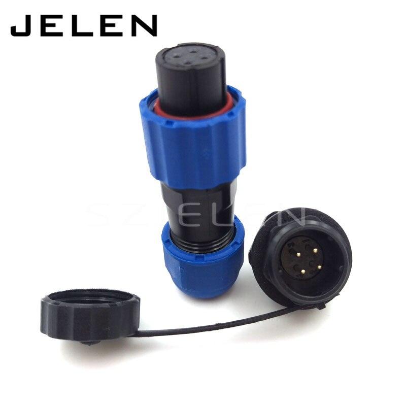 SD13, IP68 waterproof power 4 pin circular connector, IP68,Soldering Electric Cable Wire Waterproof Connector 4 pin plug socket