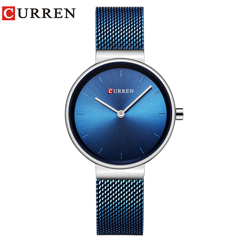 CURREN  Fashion Casual Simple Quartz Women Wristwatch Popular Female Clock Stainless Steel Watch Montre Femme Relogio Feminino
