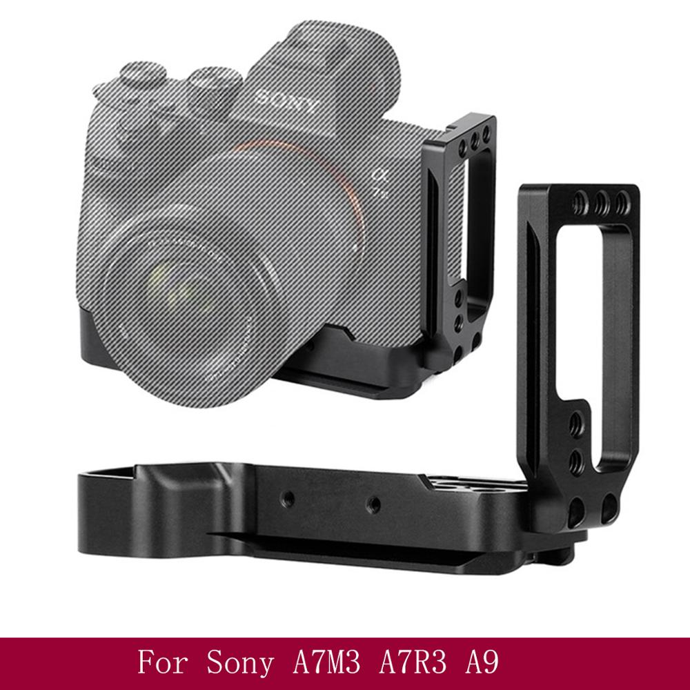 L Type Mounting Plate Bracket for Sony A7M3 A7R3 A9 A7III Quick Release Baseplateside for Stabilizers PK Smallrig