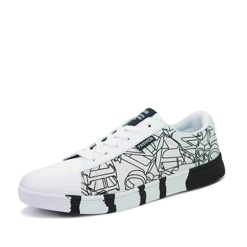Casual Noir Rond Conseil Mode Vulcaniser Hommes blanc Haiyueli Lace Imprimer Bout Up Plat Toile Noir De Blanc Chaussures Bleu wEZx8Pv7q
