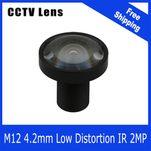 2Megapixel Fixed 1/1.8 inch Low Distortion Lens 4.2mm For  SONY IMX185 720P/960P/1080P IP/AHD/CVI/TVI CCTV Camera Free Shipping