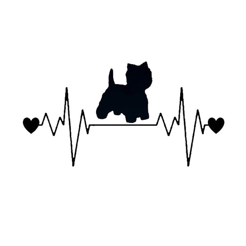20.3*10,6 см мопс собака сердцебиение спасательный круг виниловая наклейка стильный автомобиль наклейки автомобиль Аксессуары для укладки грузовик черный/серебристый С1-1320