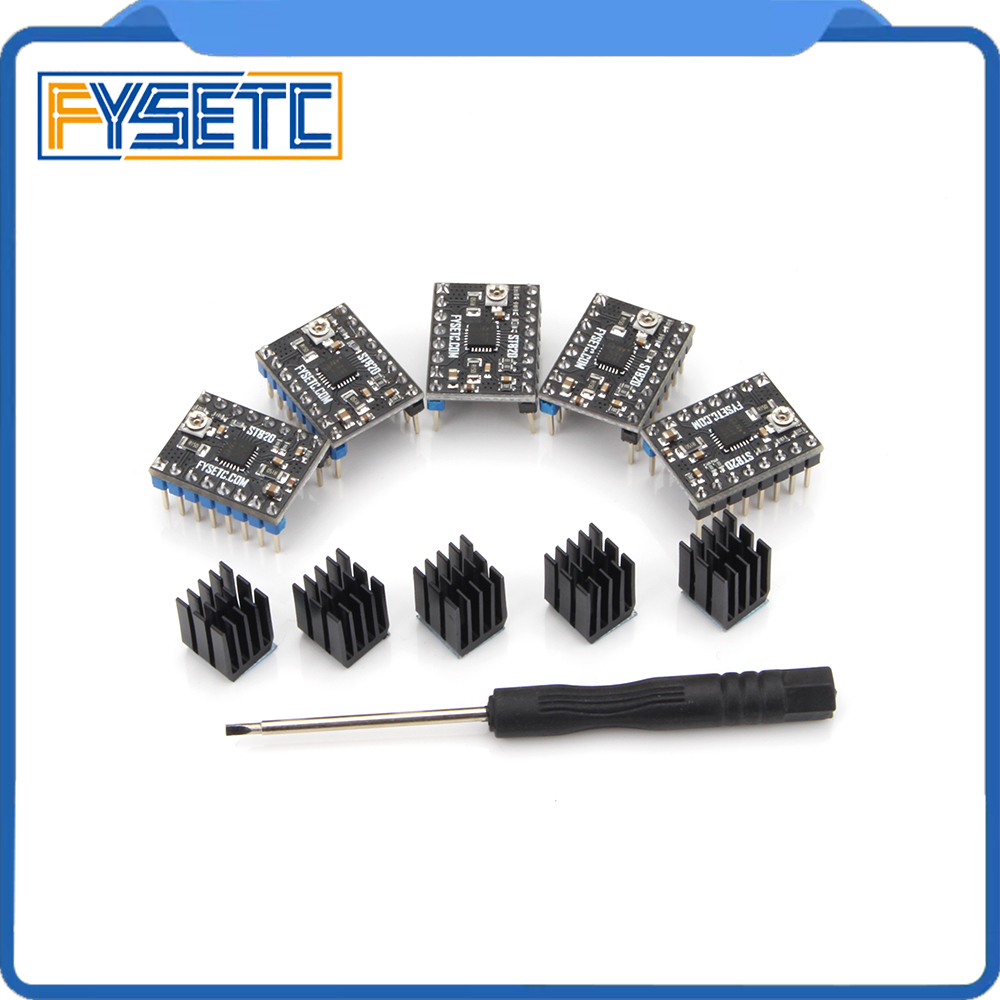 5pcs Stepping Motor Driver Stepstick ST820 Smallest 45V Microstepping Peak Current 2.5A RMS Current 1.5A For RAMPS VS TMC2100
