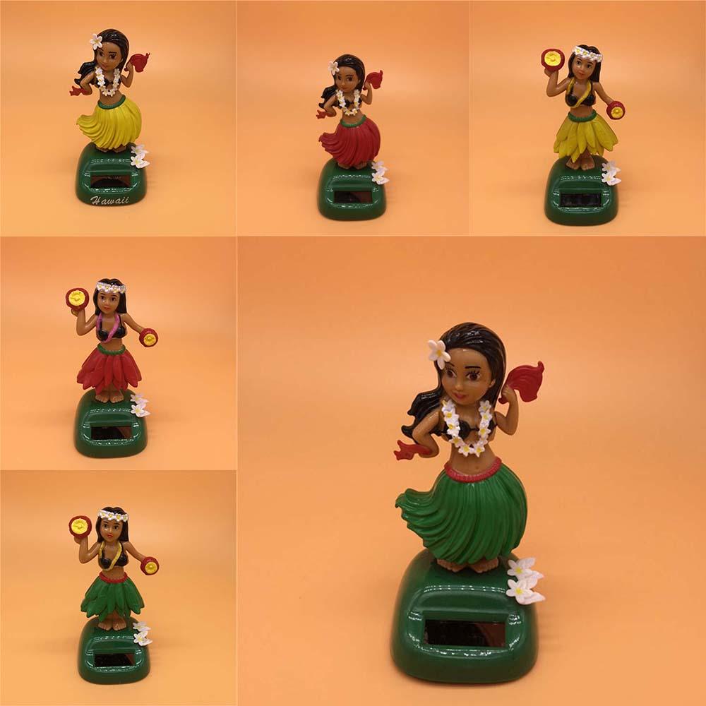 Hawaii Solar Powered Dancing Hula Girl Swinging Bobble Toy Xmas Gifts Car Decor