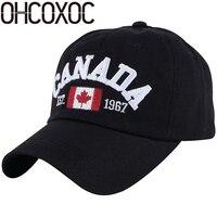 Ohcoxoc قبعة النساء الرجال جديد مخصص تصميم التطريز إلكتروني بسيط الصلبة أبيض أسود البحرية عارضة قبعات البيسبول الرياضة القبعات