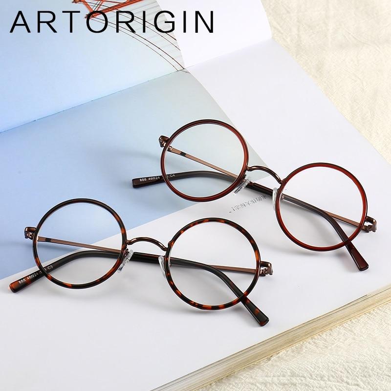 ARTORIGIN Retro Round Glasses Frame Men Women Unisex Clear Glasses Eyewear Frames Vintage Women's Glasses