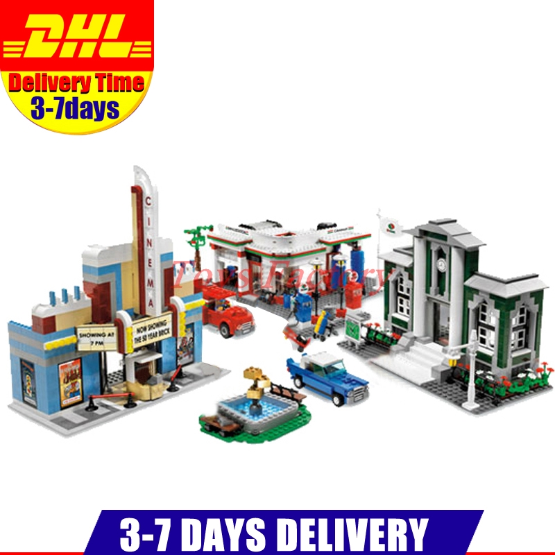 2017 Lepin 02022 2080pcs City 50th Anniversary Town Building Blocks Bricks educational Toys for children Gifts Compatible 10184 lepin city town city square building blocks sets bricks kids model kids toys for children marvel compatible legoe