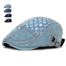 Fashion Summer Jeans Hats for Men Women High Quality Casual Unisex Denim Beret C