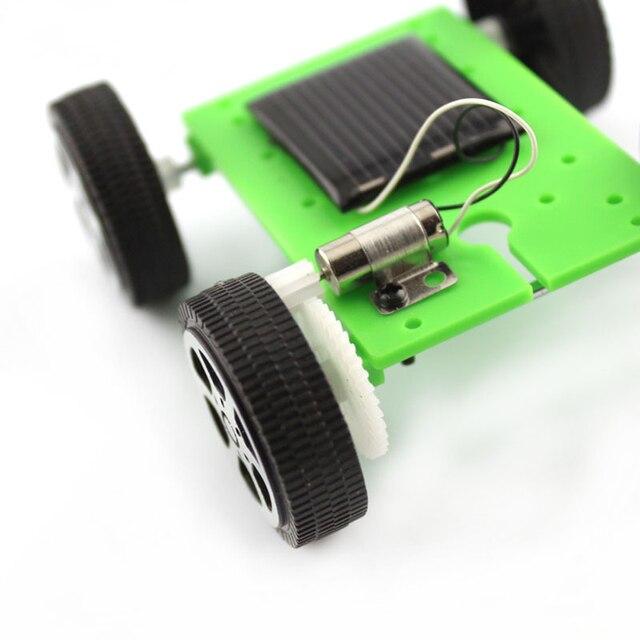 New Kids Solar Toys Energy Crazy Mini Solar Powered Toy DIY Car Solar Power Robot Children Educational Gadget Interactive toys 3