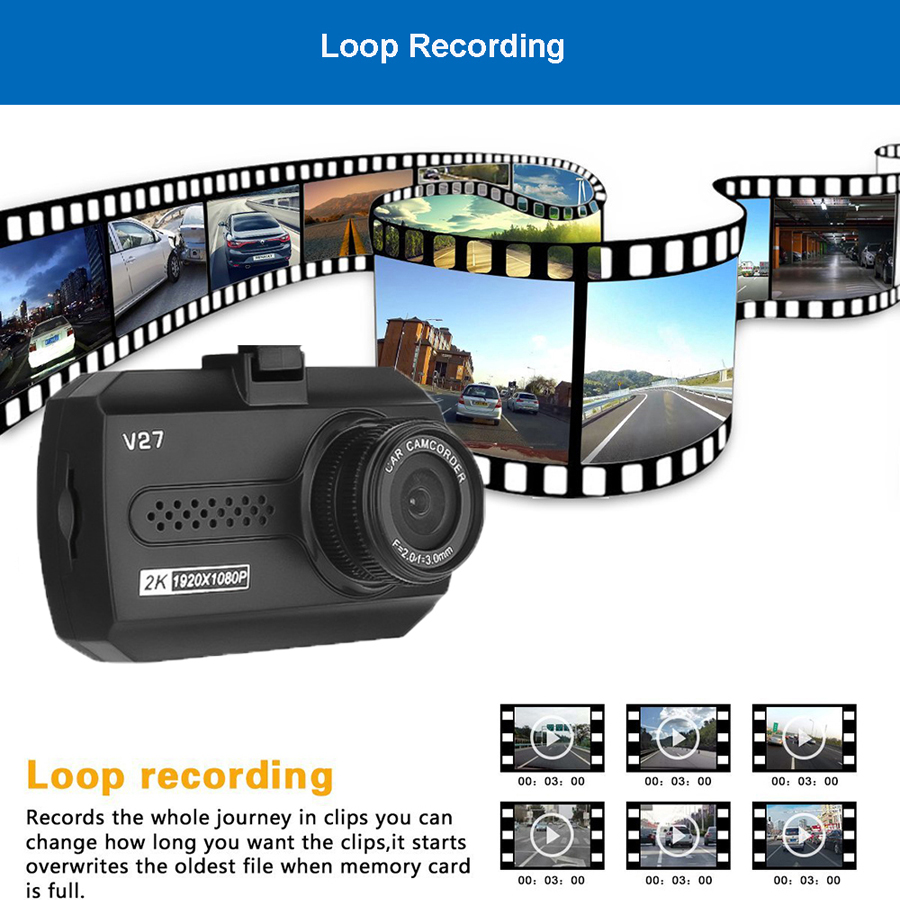 QUIDUX Novatek 1.5 Inch Mini Car Dvr Full HD 1080P Car Camera Mirror Rearview Recorder Video Dash Camera Automotive Dash Cam