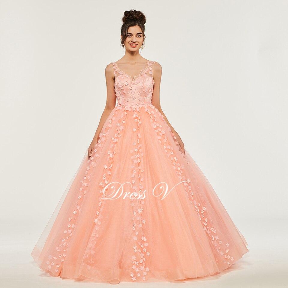Dressv Ballkleid Puffy Quinceanera Kleider Backless Prinzessin V ...