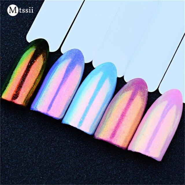 Mtssii 0.2g unicornio cromo Polvos de maquillaje brillante Manicura ...