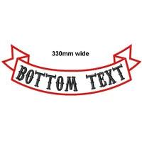 Изготовленный на заказ 1 шт. 330 мм широкий верх или низ рокер велосипед патч Вышивка имя патчи мотоцикл Железный На Патчи для куртки одежда
