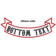 Custom 1 pc 330mm wide top or bottom Rocker Bike Patch embroidery name patches motorcycle iron on patches for Jackets clothing