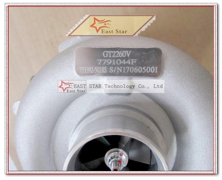 Bateau libre Turbo GT2260V 753392 753392-0001 753392-0002 753392-0003 753392-0004 753392-0005 Turbocompresseur Pour BMW X5 E53 M57N 3.0L