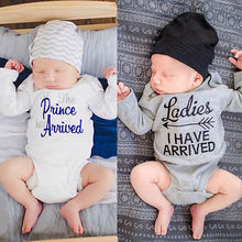 2016 Newborn Kids letters and arrow Clothes Baby Girls Boys long sleeve Romper Jumpsuit Playsuit Outfit