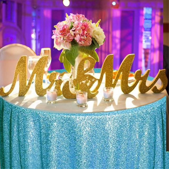 Mr & Mrs Letters Table Gold Wooden Centrepiece Decor Wedding ...