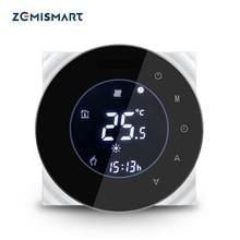 Zemismart Boiler Water Floor Heater Room Thermostat Wifi APP Controlled Alexa Google Home Voice Control