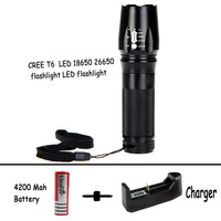 New 2000Lm Waterproof 4x CREE XML T6 LED Flashlight Self Defense Torch Light Lantern