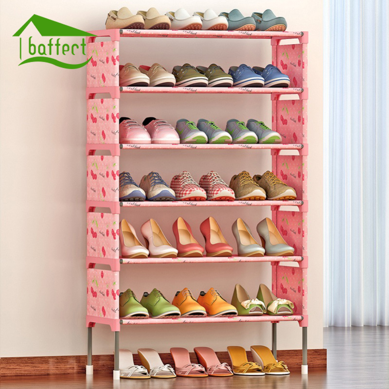 Shoe Rack DIY Assembled Plastic Multiple Layers Shoes Shelf Storage ...