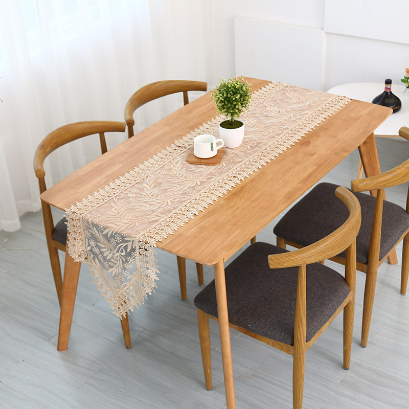 Embroidered Elegant Table Runner Lace Table Cloth Wedding Party Home Decoration Tablecloth Table Runners Modern For Dining Table in Tablecloths from Home Garden