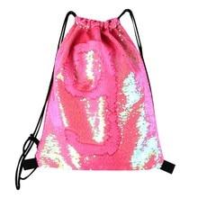 स्टोरेज बैग ड्रॉस्ट्रिंग बैग स्ट्रैप पैनल सेक्विन महिला कंधे बैग बैकपैक फैशन स्टोरेज बैग के लिए स्ट्रैप्स डिज़ाइन किया गया