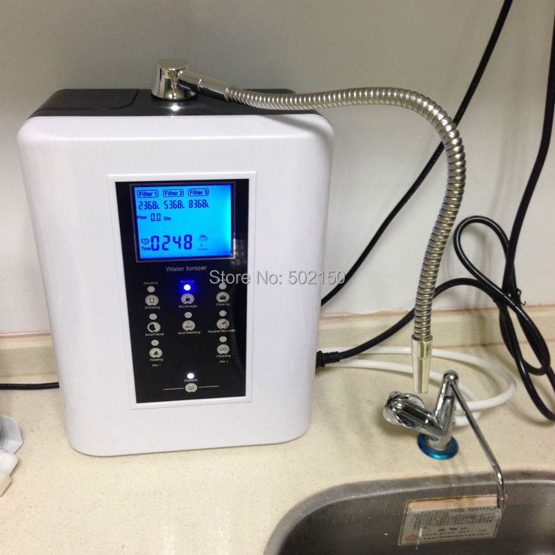New Heating Alkaline Water Ionizer Filter Machine 220V OH-806-3H 1 set 110v gorgeous machine ionizer type alkaline water filter system oh 806 3w
