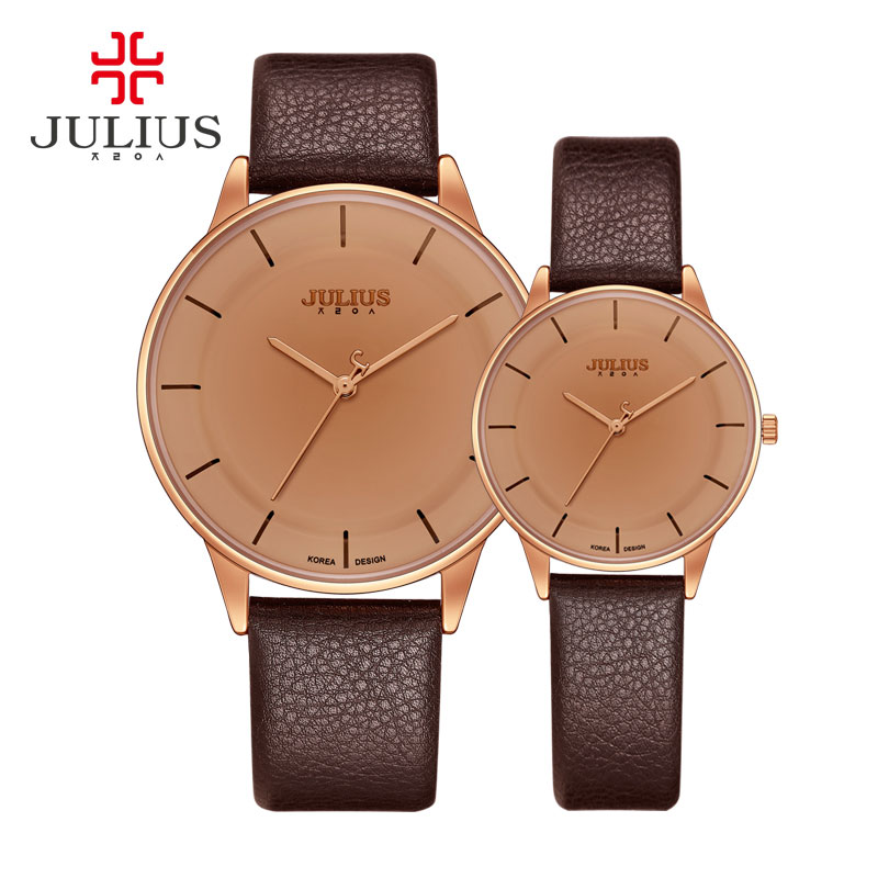 JULIUS Watches Men Women Men Sport Watch Leather Quartz Business Ladies Lovers Wristwatch JA957