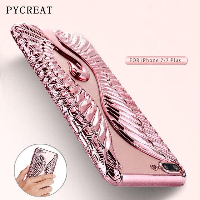 Para o iphone 7 Plus Caso Bling Do Cisne Para o iphone 6 Caso de Luxo Cobertura TPU macio Para iphone 6 Mais 7 7 Mais Bling Swan Caso Pavão Shell