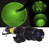 Drop shipping 6pcs hunting laser designator ar15 green laser illuminator rifle low temperature zoomable 100mw laser flashlight