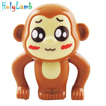 1 szt Małpa zabawki dla dzieci Mini mechaniczna dla dzieci słodkie zabawki zwierzątka dla dzieci zwiń zabawki losowy kolor noworodka wiosna zabawka tanie i dobre opinie HolyLamb Z tworzywa sztucznego Pull powrót Likwidacji Don t eat Unisex 3 lat